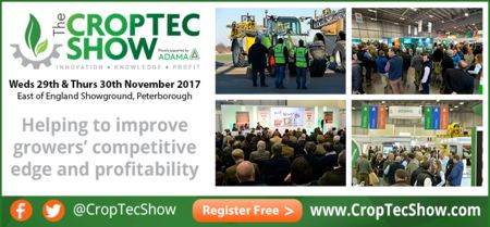 The CropTec Show, Arable Farming Conference Peterborough November 2017